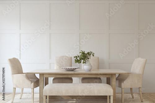 Fotografía Modern dining room. 3d render.