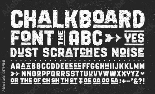 Photo Hand-drawn alphabet and font