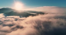 Flying Over The Clouds During ...