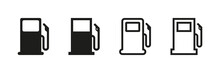 Fuel Vector Isolated Icons. Pictogram Illustration Vector Set Of Icons On White Background. Gas Station Icons Or Signs Collection . Fuel Vector Signs.