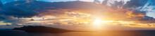 Panorama Of The Sky During Sun...