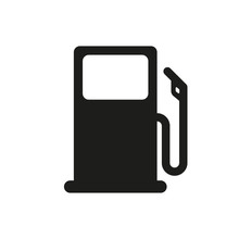 Fuel Vector Isolated Icon. Pictogram Illustration Vector Icon On White Background. Gas Station Icon Or Sign. Fuel Vector Sign.