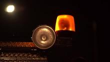 Emergency Light On Truck 4k