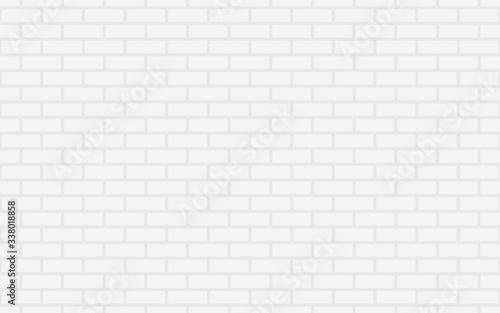 Fototapeta Gray brick wall background. Abstract geometric seamless pattern. Vector illustration. Eps10  obraz na płótnie