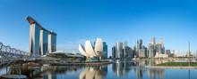 Wide Panorama Of Singapore Sky...