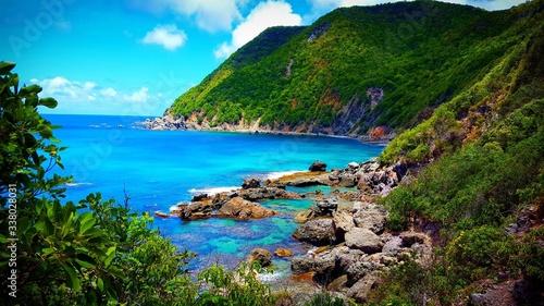 Fotografie, Obraz Scenic View Of Bay Against Sky