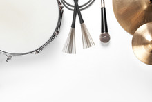 Musical Instruments. Flat Lay