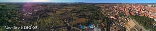 Benavente, village of Zamora,Spain. Drone photo