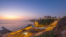 Aerial View Of Lima's Coastlin...