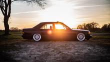 Mercedes Benz W201 Sonnenuntergang
