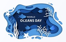 World Oceans Day Paper Cut Sea...