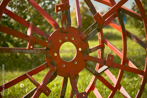 Photo Cage for agricultural tractor