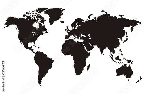 World Map in various designs