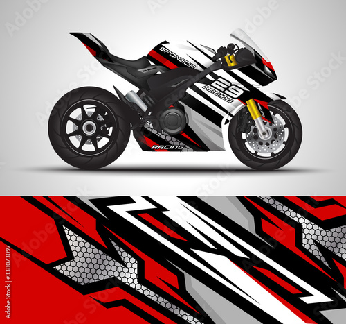 Fotografía Motorcycle sportbikes wrap decal and vinyl sticker design.