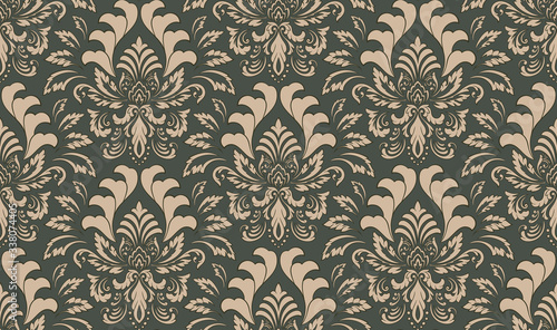 Damask seamless emboss pattern background Fototapeta