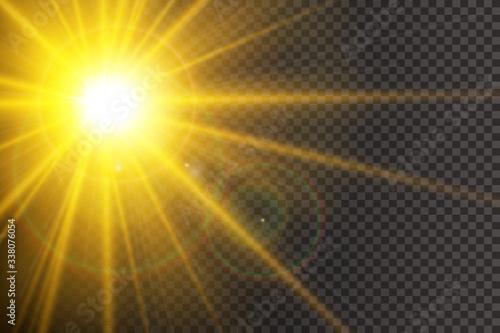Tablou Canvas Vector transparent sunlight special lens flare light effect