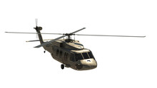 Military Helicopter Isolated O...