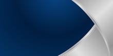 Navy Blue Silver Curve Shape B...