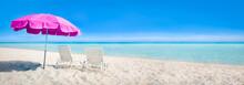 Beach Panorama With Sun Chair ...