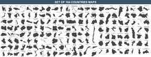 Big Set Of 164 Countries Maps