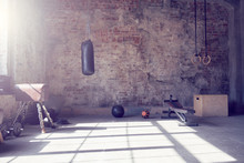 Loft Style Gym With Old Brick ...