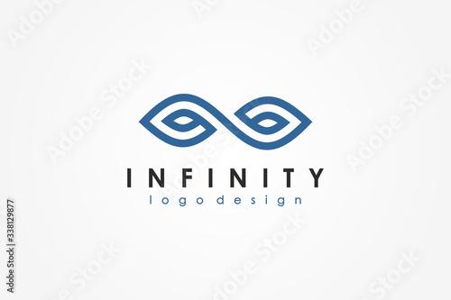 Valokuvatapetti Blue Line Infinity Logo isolated on White Background