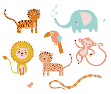 Vector Cute Animal Character S...