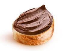 Slice Of Bread With Chocolate Cream With Hazelnut