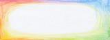 Color pencil rainbow graphic horizontal background.