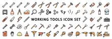Big Set Of Working Tools Icon