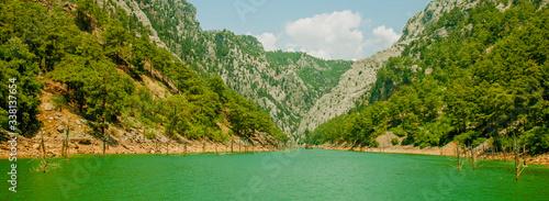 Valokuva Horizontal panorama of Turkey Green Canyon