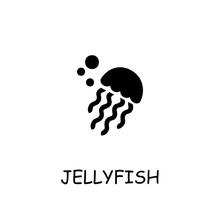 Jellyfish Flat Vector Icon