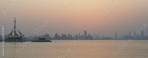 Fototapeta View Of Buildings In City At Sunset obraz