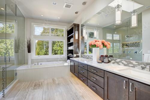 Cuadros en Lienzo Contemporary bathroom interior. Luxury American modern home.