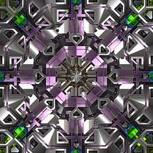 3d Effect - Abstract Octagonal...