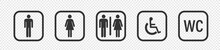 Toilet Sign. WC Sign. Vector Illustration