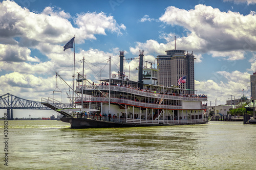 Canvas Print Mississipi River Steamboat in New Orleans
