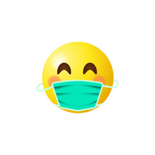 Emoji With Mouth Mask - Yellow...