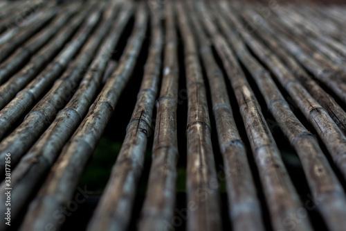 Fotomural Full Frame Shot Of Bamboos