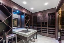 Wine Tasting Room. Interior Of The New Wine Cellar