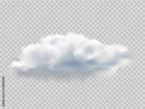 Fotomural Realistic isolated cloud for template decoration and mockup covering on the transparent background