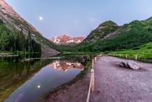 Maroon Bells Lake In Aspen, Co...