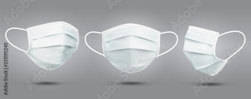 Fotografía Realistic Set of medical masks - template