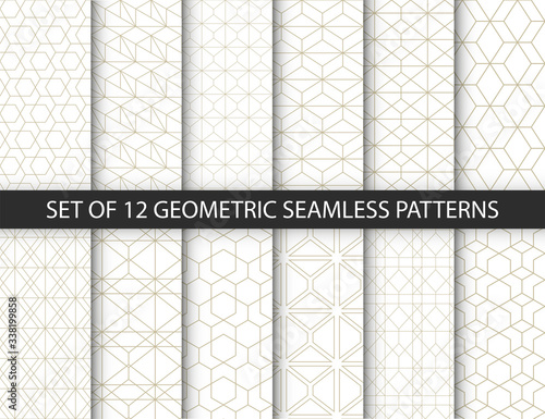 Fototapety, obrazy: Set of vector ornamental seamless patterns. Collection of geometric patterns in the oriental style. Patterns added to the swatch panel.