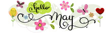 Hello May. MAY Month Vector Wi...
