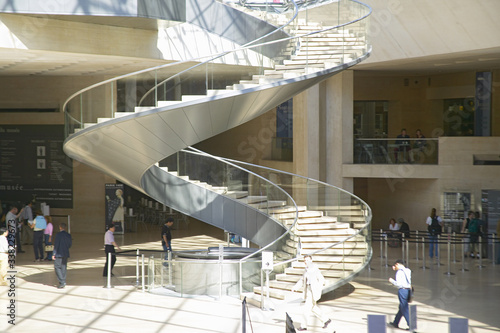 Stairway and lobby at the Louvre Museum, Paris, France Fototapeta