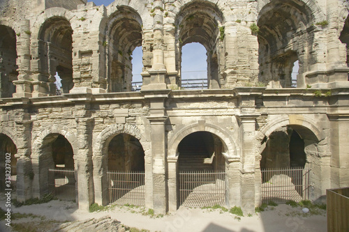 Exterior of the Arena of Arles, from ancient Roman times, can hold 24,000 specta Canvas Print