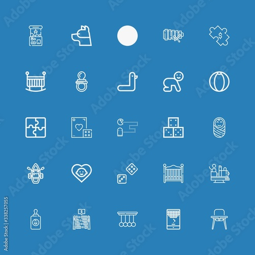 Valokuva Editable 25 toy icons for web and mobile