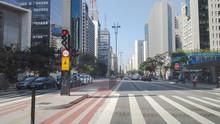 Traffic On Street In Paulista Avenue