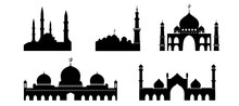 Islamic Mosque Buildings Silhouettes Collections